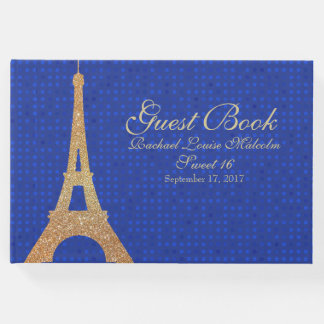 Eiffel Tower Sweet 16 Guest Book
