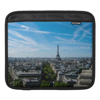 Eiffel Tower view from the Arc du Triomphe, Paris iPad Sleeve