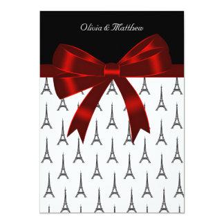 Eiffel Tower Wedding 13 Cm X 18 Cm Invitation Card
