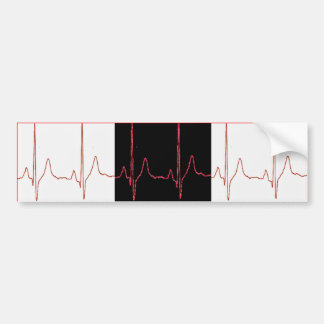 EKG BUMPER STICKER