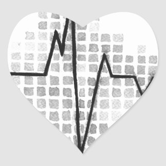 EKG.jpg Heart Sticker