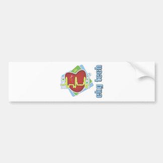 EKG Tech Bumper Sticker