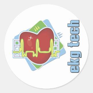 EKG Tech Classic Round Sticker