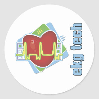 EKG Tech Round Sticker