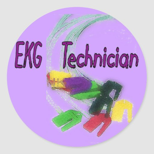 EKG Technician Gifts Sticker