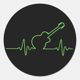 EKGuitar Round Sticker