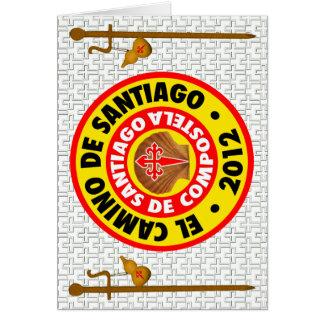 El Camino de Santiago de Compostela 2012 Card