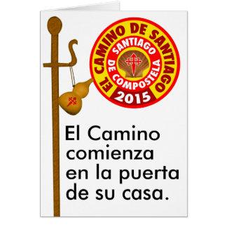 El Camino de Santiago de Compostela 2015 Card