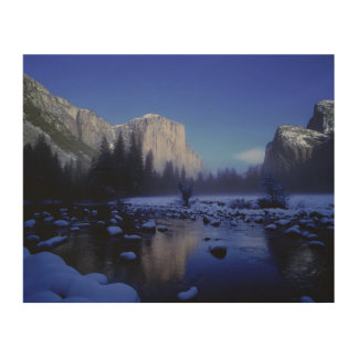 El Capitan Mountain, Yosemite National Park, Wood Canvases