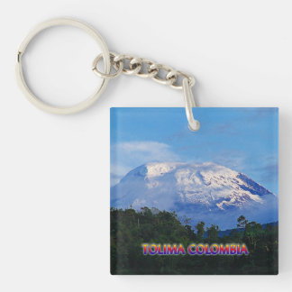 El Nevado del Tolima Travel Key Chain
