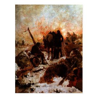 El paso de los Andes by Arturo Michelena Postcard