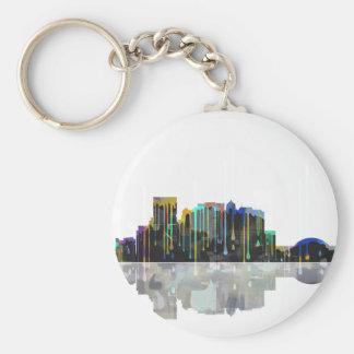 El Paso Texas Skyline Basic Round Button Key Ring