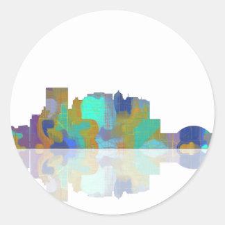 El Paso Texas Skyline Round Sticker
