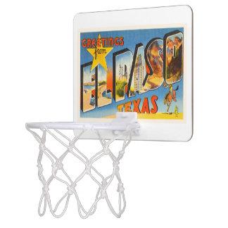 El Paso Texas TX Old Vintage Travel Souvenir Mini Basketball Hoop