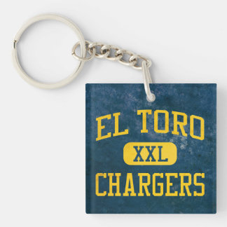 El Toro Chargers Athletics Double-Sided Square Acrylic Keychain