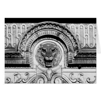 Elaborate Carved Lion Head Card