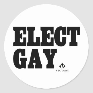 Elect Gay Stickers