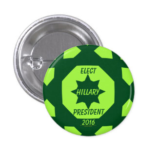 Elect Hillary Clinton President 2016 3 Cm Round Badge