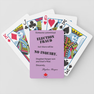 Election Fraud playing cards