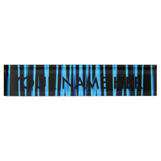 ELECTRIC BLUE (an abstract art design) ~ Name Plate