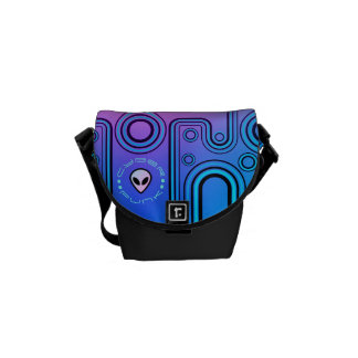 Electric Blue Industrial Cyber Punk Futuristic Commuter Bags
