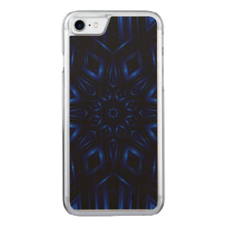 Electric Blue Kaleidoscope iPhone 6 Slim Wood Carved iPhone 8/7 Case