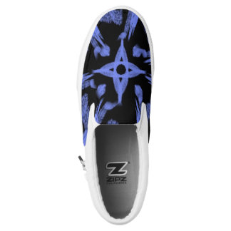 Electric Blue Printed Shoes