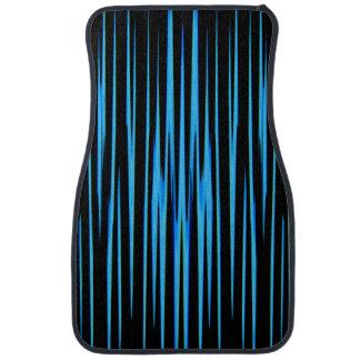 ELECTRIC BLUE TILE (an abstract art design) ~ Floor Mat