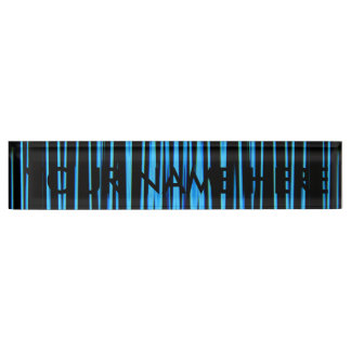 ELECTRIC BLUE TILE (an abstract art design) ~ Nameplate