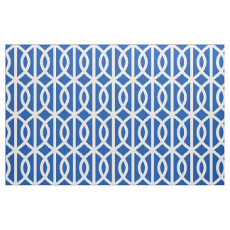 Electric Blue Trellis Pattern Fabric