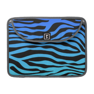 Electric Blue Zebra Stripes Animal Print Sleeve For MacBook Pro