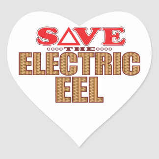 Electric Eel Save Heart Sticker