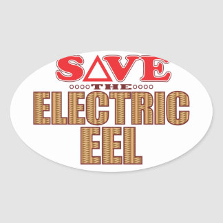 Electric Eel Save Oval Sticker