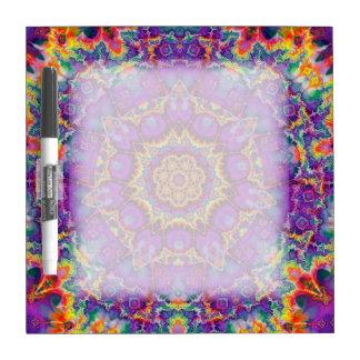 Electric Flower Purple Rainbow Kaleidoscope Art Dry Erase Board