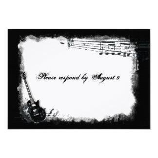 Electric Guitar Rough Music rsvp with envelopes 9 Cm X 13 Cm Invitation Card