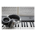 Electric Piano Keyboard Poster