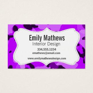 Electric Purple Camo; Camouflage Business Card
