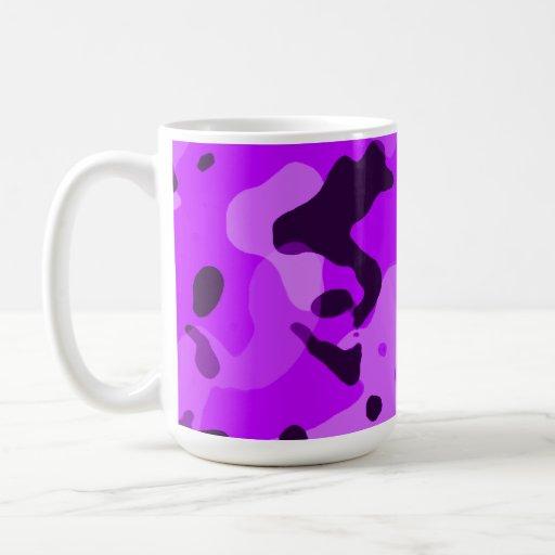Electric Purple Camo; Camouflage Coffee Mugs