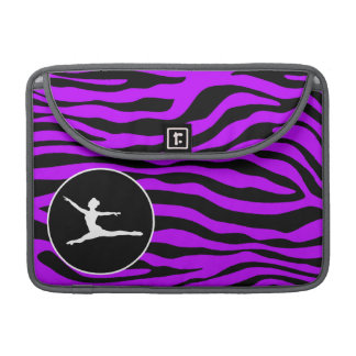 Electric Purple Zebra Stripes; Ballet Sleeve For MacBooks