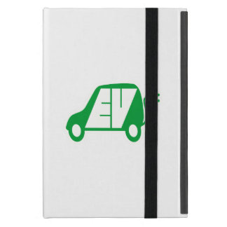 Electric Vehicle Green EV Icon Logo - Covers For iPad Mini