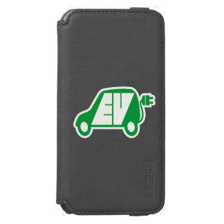Electric Vehicle Green EV Icon Logo - Incipio Watson™ iPhone 6 Wallet Case