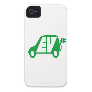 Electric Vehicle Green EV Icon Logo - iPhone 4 Cases