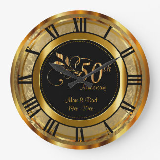 Elegant 50th Golden Anniversary Wall Clock
