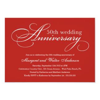 ELEGANT 50TH | WEDDING ANNIVERSARY INVITATION