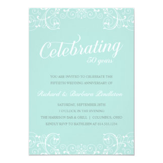 Elegant 50th Wedding Anniversary Party Personalized Invite