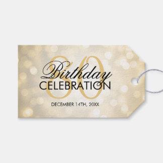 Elegant 80th Birthday Party Gold Glitter Lights