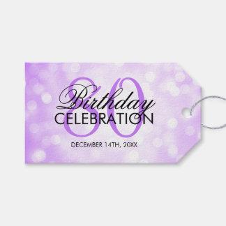 Elegant 80th Birthday Party Purple Glitter Lights
