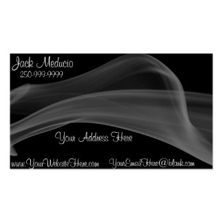 Elegant Abstract Smoke Business Card Template