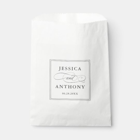 Elegant Affair Wedding or Engagement Party Favour Bags