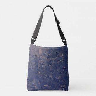 Elegant and Modern Geometric Art - Ocean Bronze Crossbody Bag